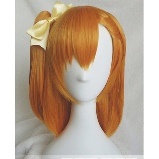 Honoka Kousaka Love Live Medium Wig Orange Cosplay Costume Women Synthetic Hair Role Play wigs