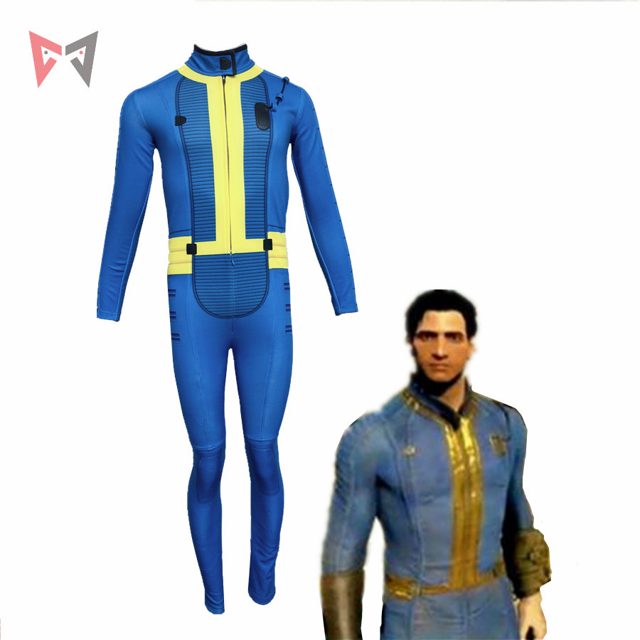 MMGG Halloween Game Fallout 4 Cosplay Costumes  Knight Jumpsuits custom made size