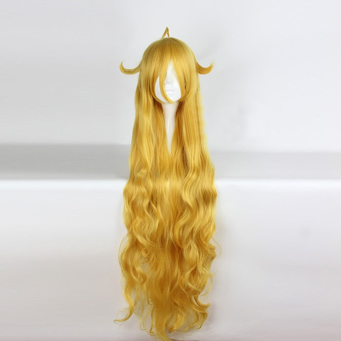 Mavis Vermilion Long Curly Wig Yellow Fairy Tail