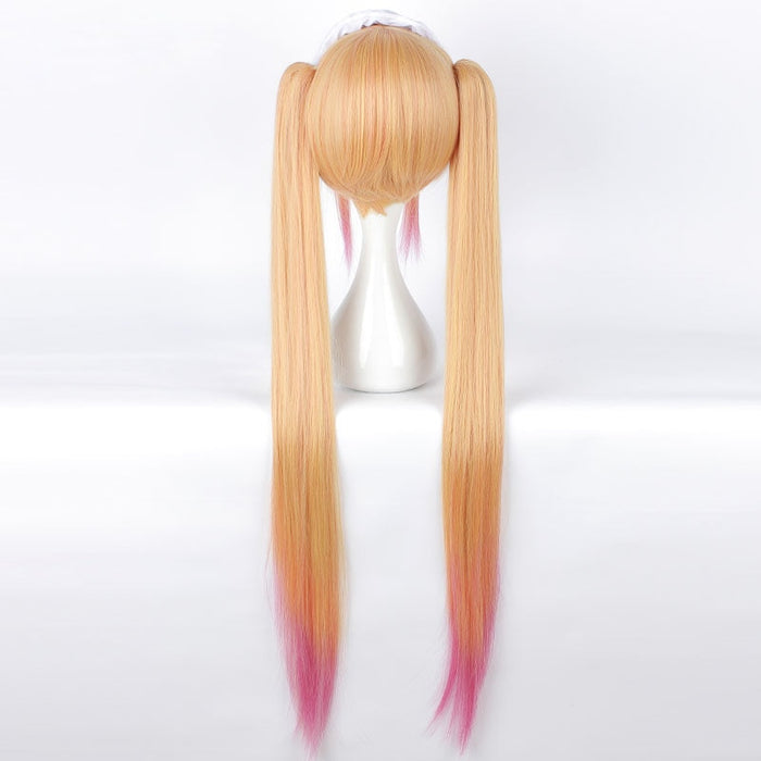 Miss Kobayashi's Dragon Maid Tohru Blonde Yellow Gradient Cosplay Wig Anime 110cm Long Straight Costume Cosplay Party Gift