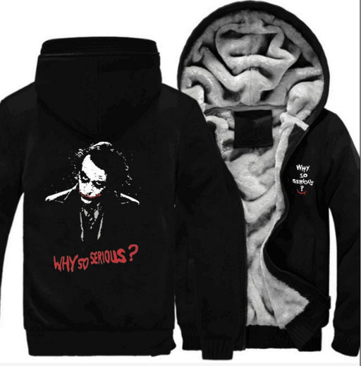 Movie New Batman Dark Knight Rise Joker  Cosplay Costume Men's Women's Winter Casual Jacket Hoodies Sweatershirt