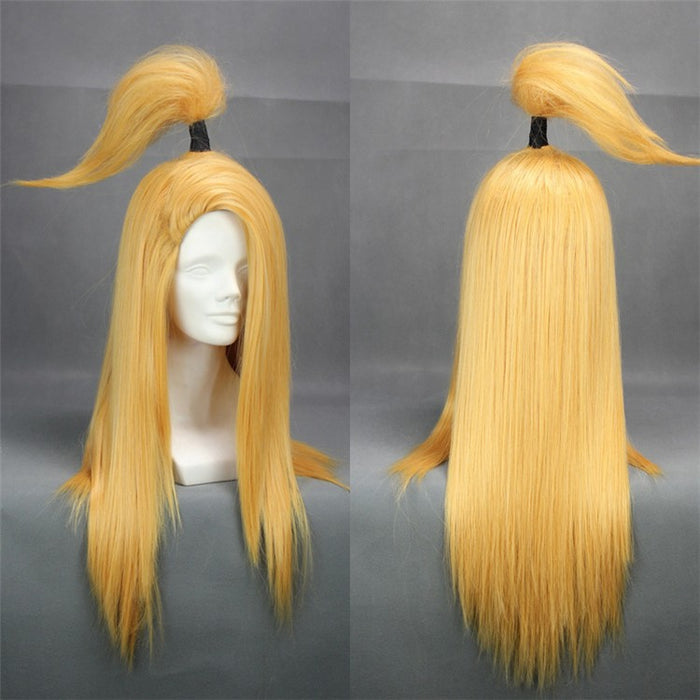 Deidara NARUTO 60cm Long Straight Golden Heat Resistant Cosplay Costume Wig