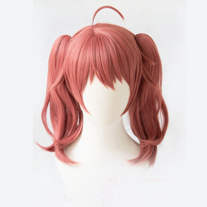 MIKU DARLING in the FRANXX 390 Cosplay Medium Wig Pink Ponytail Synthetic Hair Perucas +wig cap