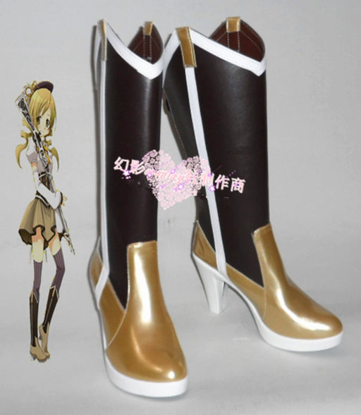 Puella Magi Madoka Magica Mami Tomoe Boots For Cosplay Event Halloween