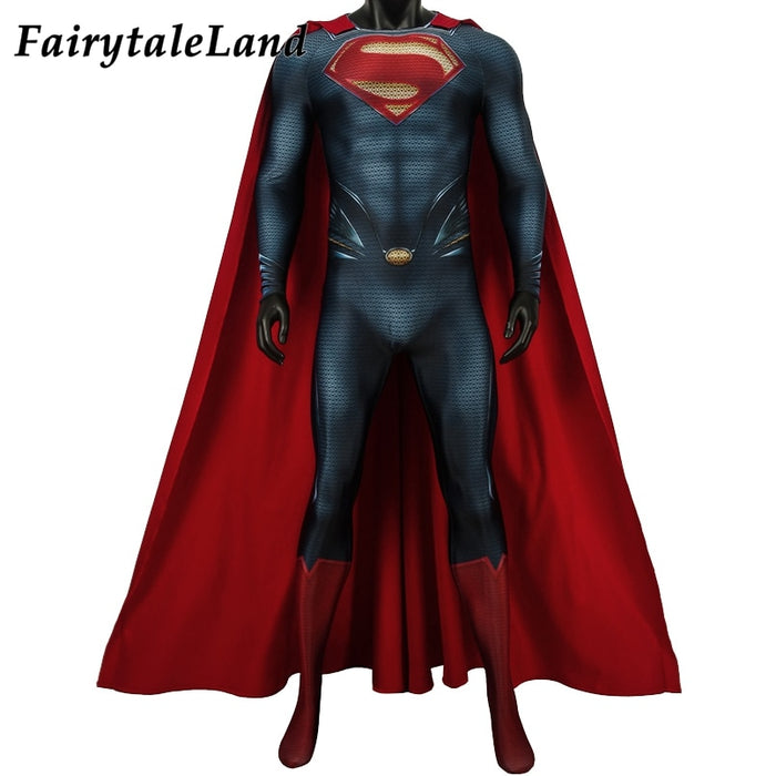 Superman Man of Steel 2 Cosplay Costume Halloween Clark Kent Jumpsuit Outfit