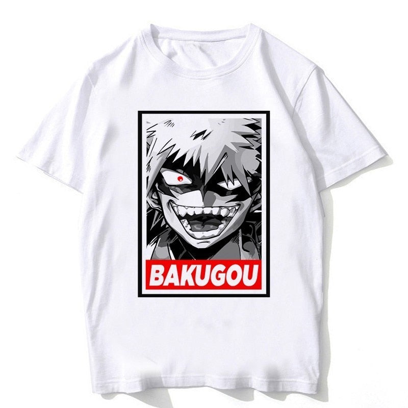 My Hero Academia Newest T Shirts Man Short Sleeve Clothing Cosplay Funny Cartoon For Unisex