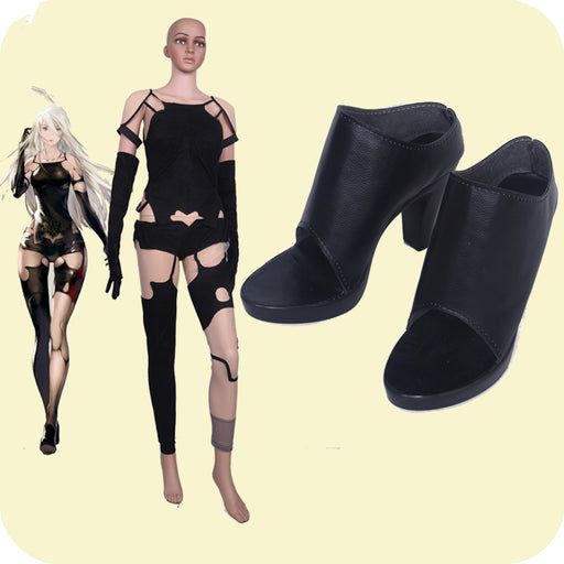 YoRHa Tsuki NieR Automata 2A Cosplay Girls Black Shoes