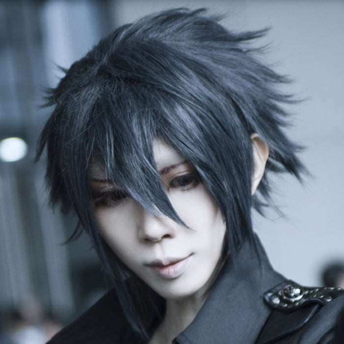 Noctis Lucis Caelum Final Fantasy XV Cosplay Black Short Wig Costume FF15 XV Hair for men + wig