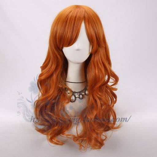 Nami One Piece Orange Long Wavy Wig