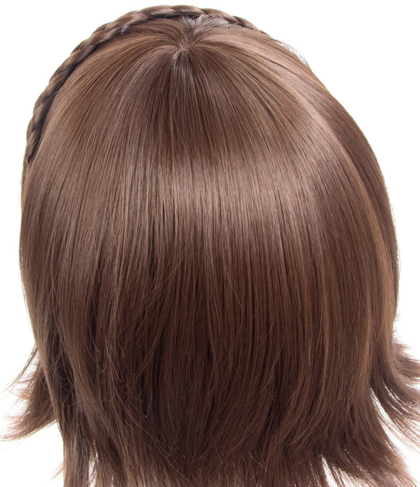 Makoto Niijima Persona 5 Short Wig Mixed Brown Hair Cosplay With Braid + Wig Cap