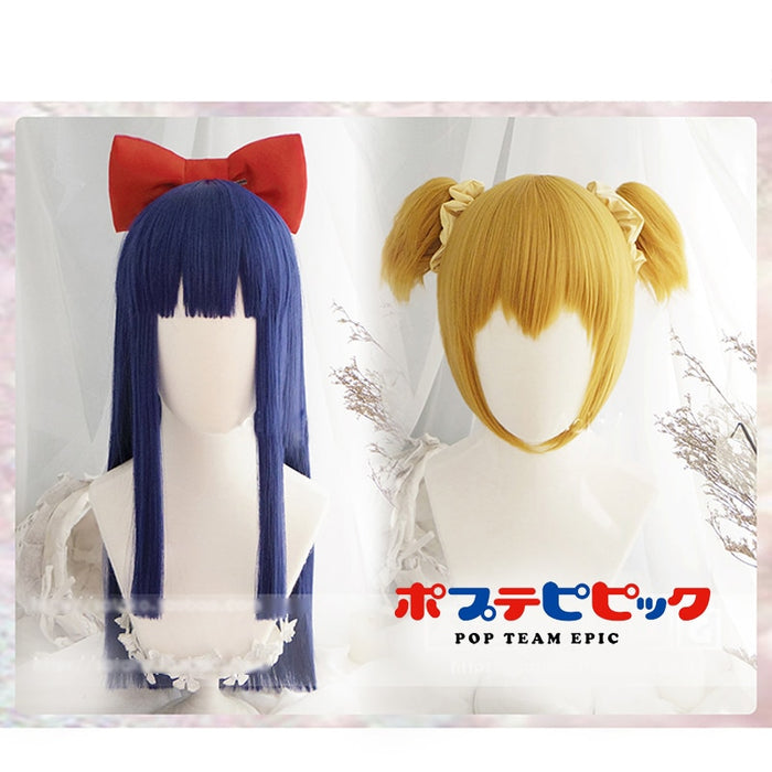 Pipimi & popko Cosplay Wig POP TEAM EPIC Costume Play Wigs  Costumes Hair