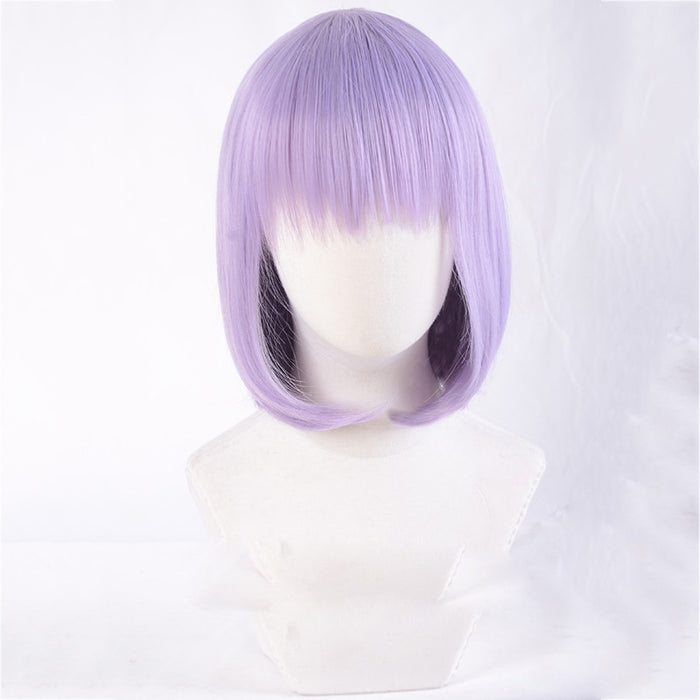 Dagashi Kashi Shidare Hotaru Dakimakura Purple Short Straight Wig Synthetic Hair+hairnet