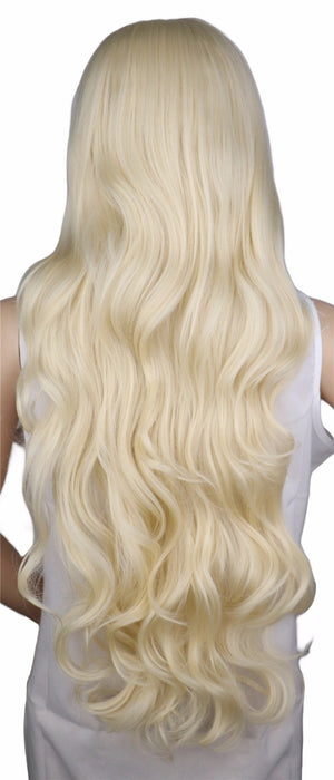 70 Cm Long Curly Wig Blonde Cosplay Costume Party Women Synthetic Hair Wigs