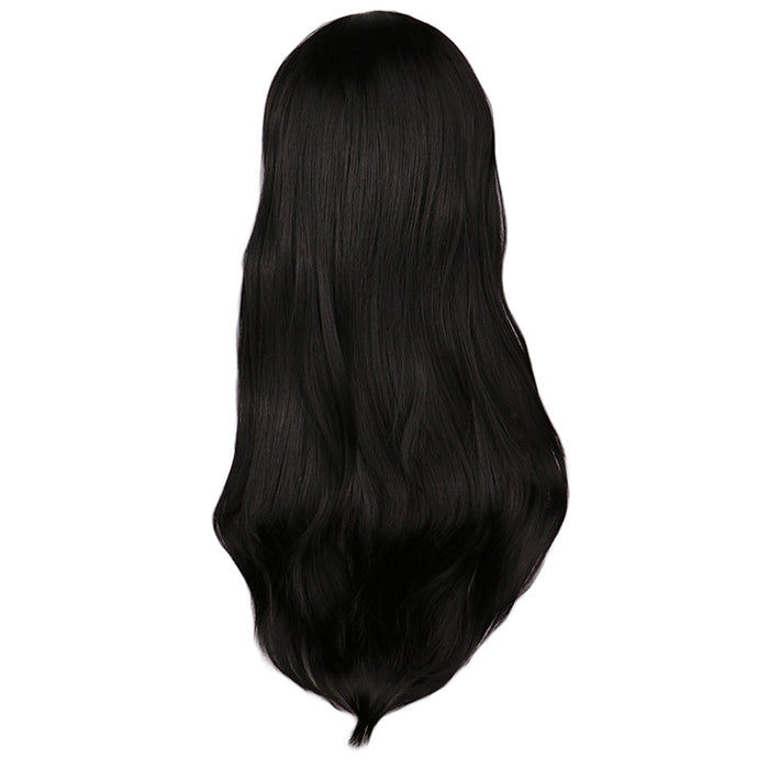 Long Curly Wig Black Cosplay Costume Women Synthetic Hair Wigs