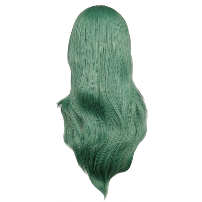 70 Cm Long Curly Cosplay Costume Women Wig Green Synthetic Hair Wigs
