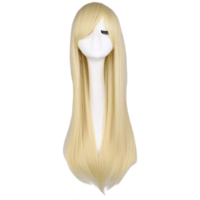 80 Cm Long Straight Wig Cosplay Synthetic Hair Wigs