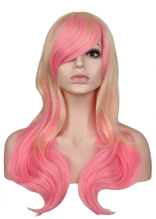 68 Cm Long Straight / Long Curly Cosplay Wig Women Costume Synthetic Hair Wigs