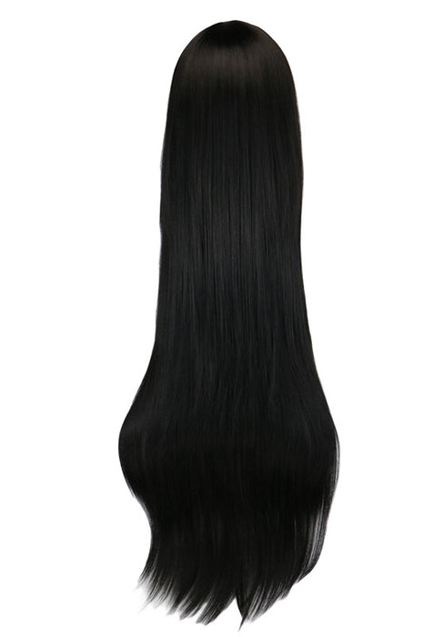 "100cm 40"" Long Straight Party Cosplay Black Synthetic Hair Wigs"