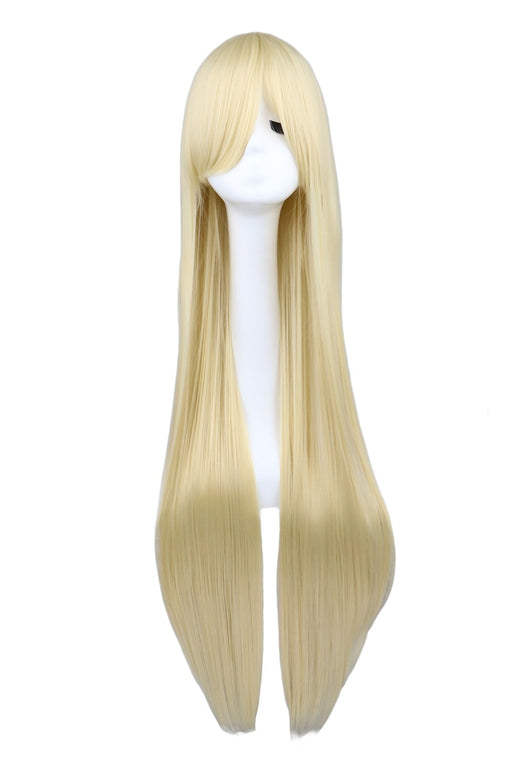 100cm Long Straihgt Cosplay Blonde Synthetic Hair Wigs