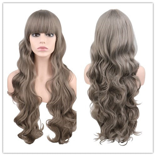 80 Cm Long Wavy Wig Cosplay Synthetic Hair Wigs