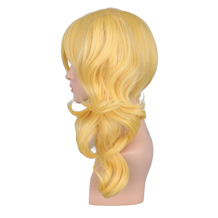 Long Wavy Wig Cosplay  Blonde Costume 2 Ponytails Synthetic Hair Wigs