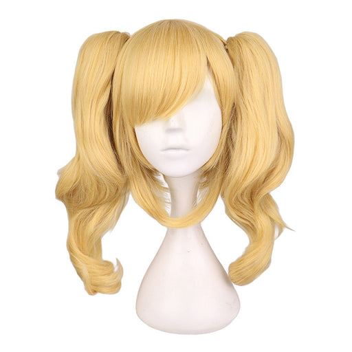 Long Wavy Cosplay Mixed Blonde Wig With 2 Ponytails Synthetic Hair Wigs