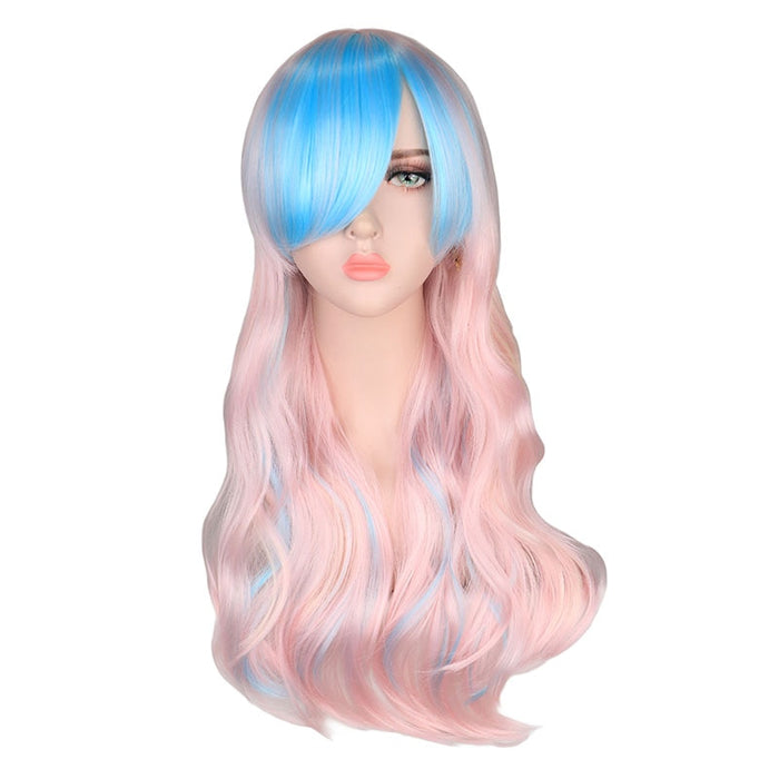70Cm Long Curly Wig Cosplay Party Women High Temperature Synthetic Hair Wigs