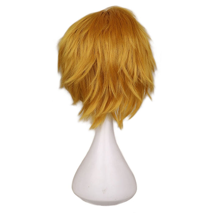 Short Cosplay Wig Gold Yellow Synthetic Hair Wigs