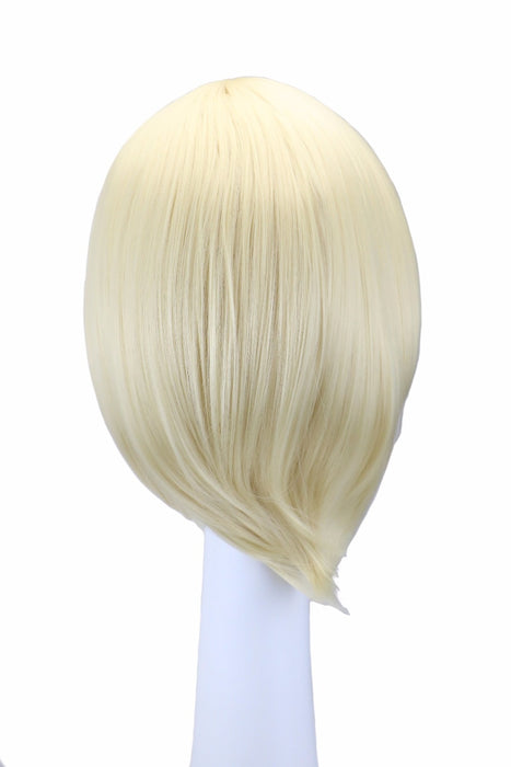 32 Cm Short Straight Men Boy Cosplay Blonde Synthetic Hair Wigs