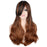 68 Cm Women Long Wavy Cosplay Wig Mixed Black Brown Synthetic Hair Full Wigs