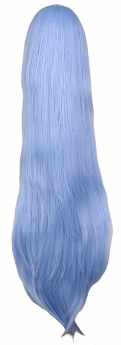 100cm 40'' Women Men Long Straight Cosplay Wig Light Blue Synthetic Hair Wigs