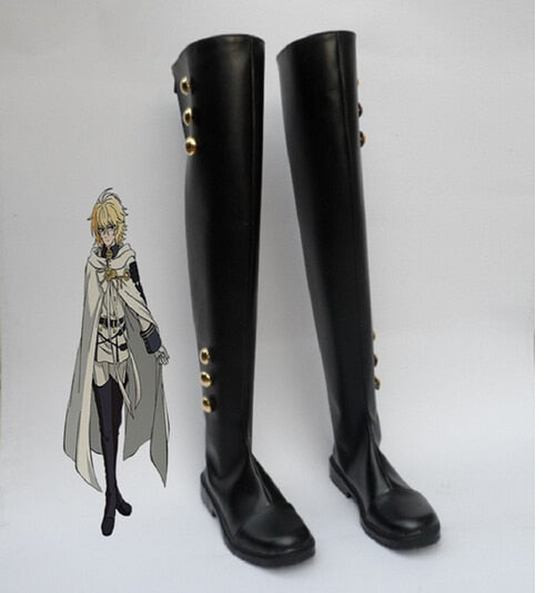 Mikaela Hyakuya Seraph Of The End Cosplay Military Uniform Costume Ferid Bathory Boots