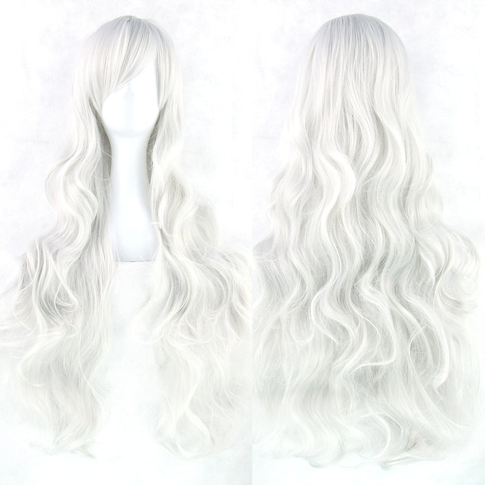 80cm Long Curly Wig Women Synthetic Hair 20 Colors
