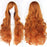 80cm Long Curly Wig Women's Hairpiece Synthetic Hair Accessories 20 Colors