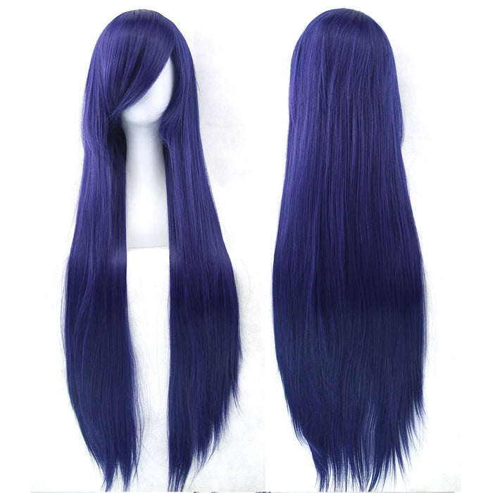 32 inch Long Straight Women Hairpiece Synthetic Hair Cosplay Wig 24 Colors