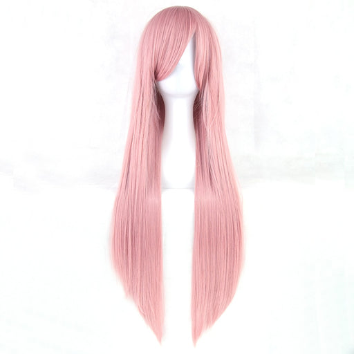 80cm Long Straight Wig Women Synthetic Hair Hairpiece 24 Colors
