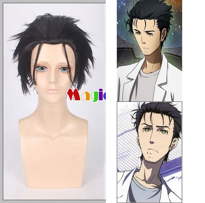 Steins Gate Rintarou Okabe Short Wig Black