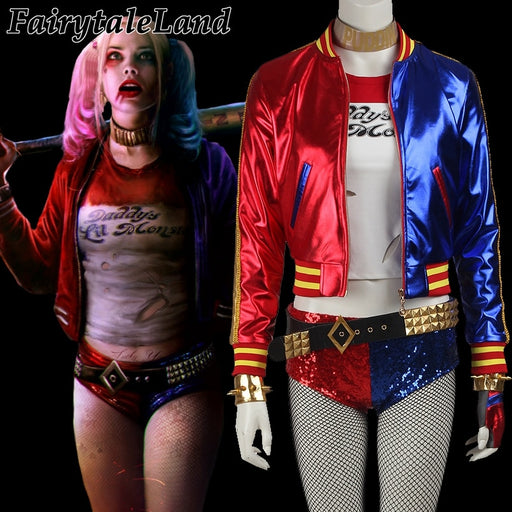 Suicide Squad Harley Quinn cosplay Halloween Sexy Fancy costumes for adult women