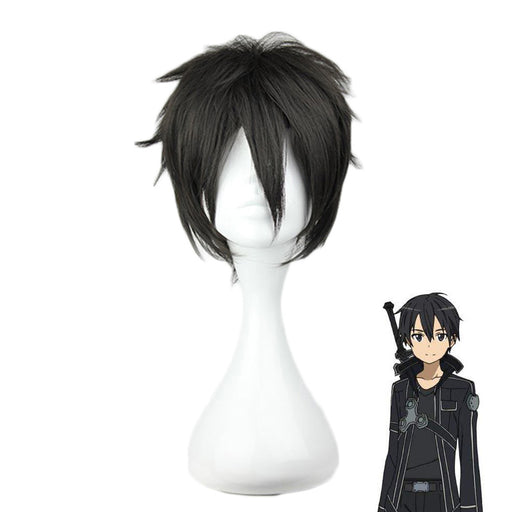 Kirigaya Kazuto Sword Art Online Cosplay Short Wig Black Synthetic Hair Unisex