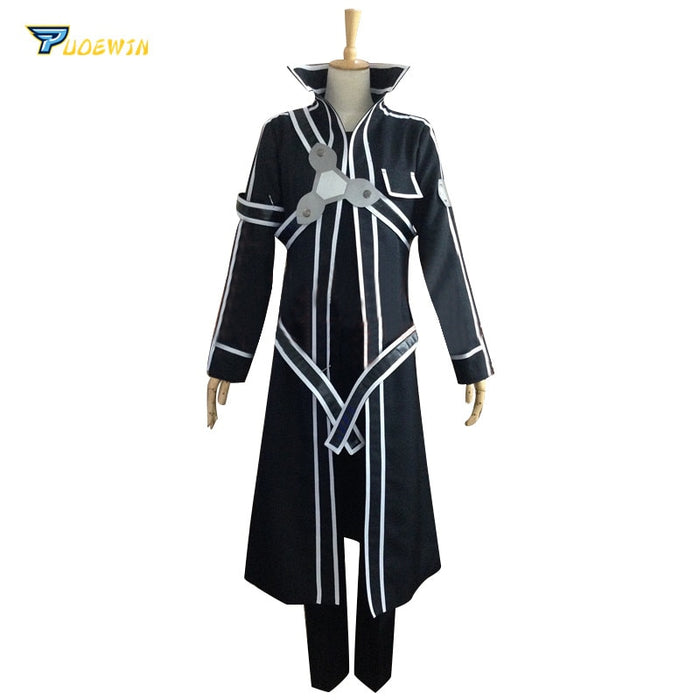 Kirito Sword Art Online Cosplay Custom Made Any Size with Gloves