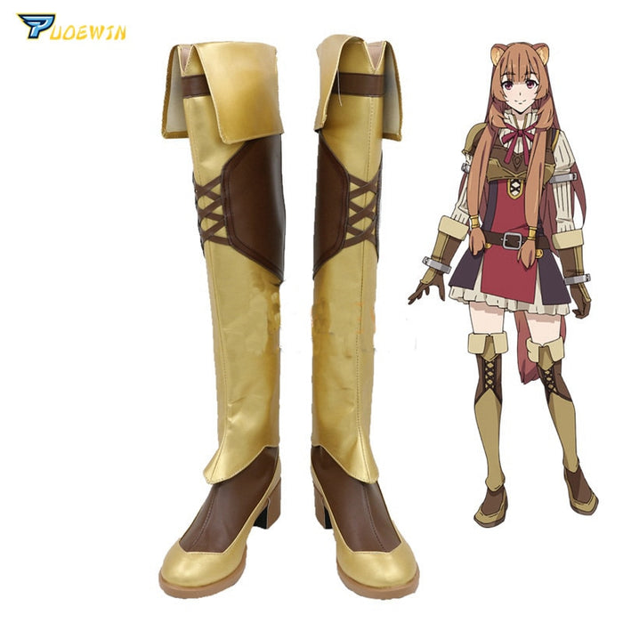 The Rising of the Shield Hero Raphtalia Cosplay Shoes Custom Made Boots
