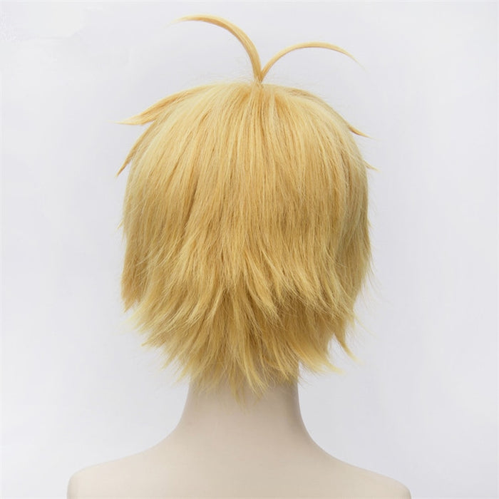 The Seven Deadly Sins Meliodas Short Wig Golden Nanatsu no Taizai Yellow