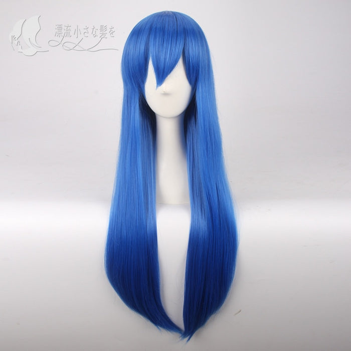Wendy Marvell Long Straight Wig Fairy Tail Blue