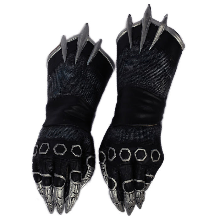 Black Panther Captain America 3 Civil War Cosplay Latex Gloves Halloween Costume Accessory