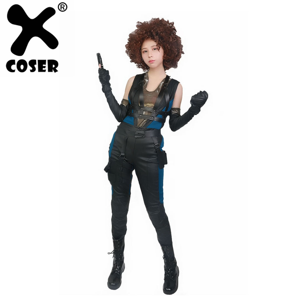 Deadpool 2 Cosplay Domino Full Set PU Costume For Adult