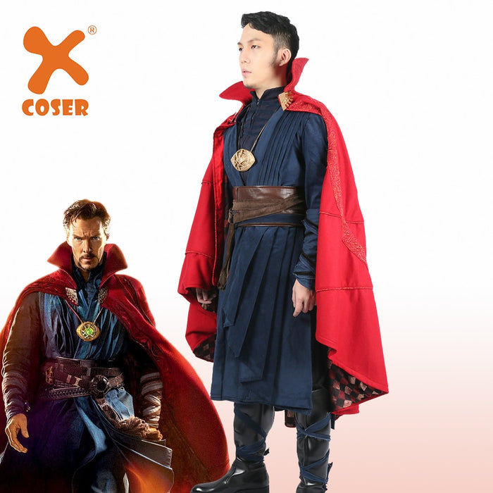 Doctor Strange Superhero Halloween Party Cosplay Costume Completed Outfit Suit for Men