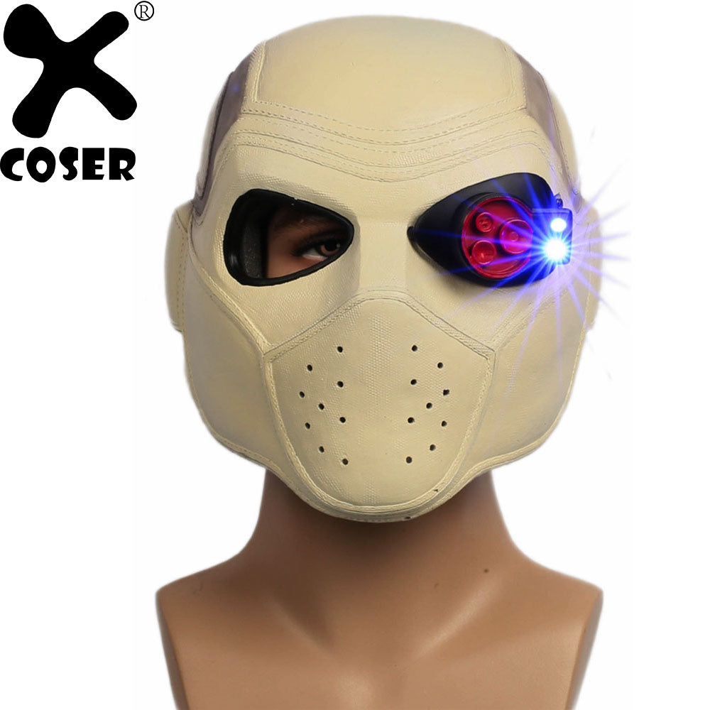 Suicide Squad Deadshot Cosplay Helmet Mask Movie Accessories Resin Full Head Mask Halloween Party