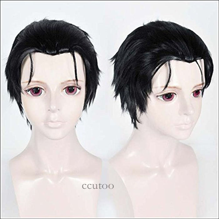 "ccutoo 12"" Short Straight Wig Black Men's High Temperature Fiber Synthetic Hair Durarara Izaya Orihara"