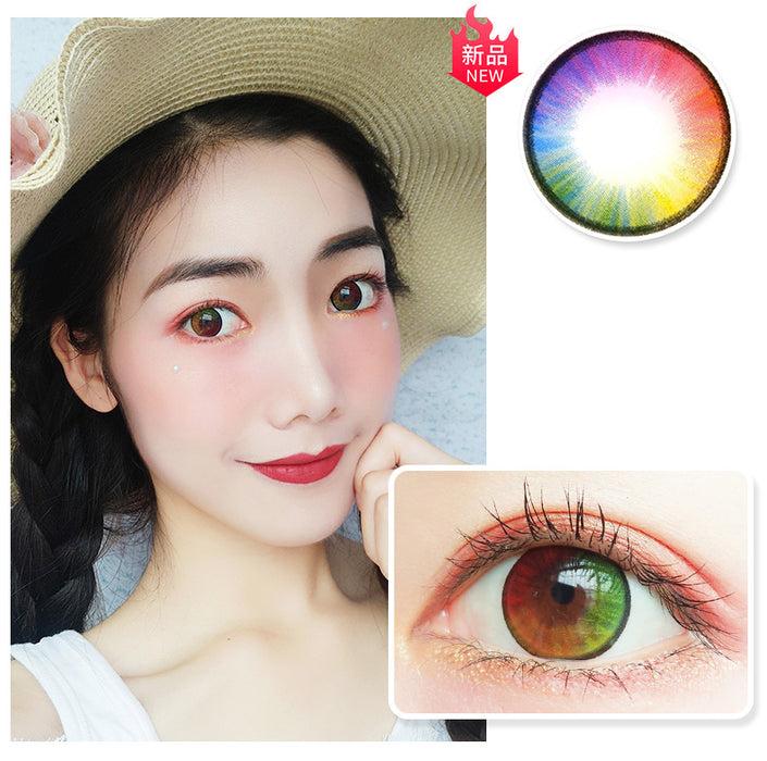 Colorful Rainbow Contact Lens