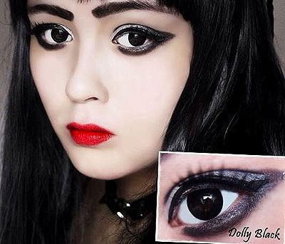 ColourVue Big Eyes Dolly Black Lens